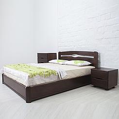 Ліжко дерев'яне двоспальне Нова з підйомним механізмом