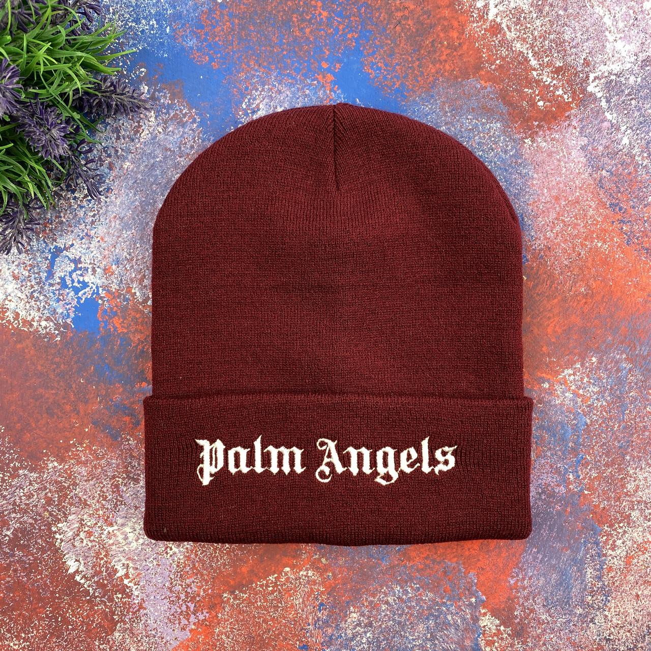 Бордовая шапка Palm Angels