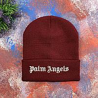 Бордовая шапка Palm Angels, фото 1