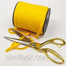 Жовта хб киперная стрічка 1 см на відріз кратно 1 м. (6-БК-704)