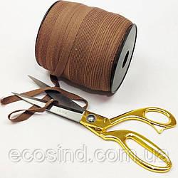 Светло-коричневая хб киперная лента 1 см на отрез кратно 1 м. (6-БК-710)