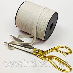 Светло-серая хб киперная лента 1 см на отрез кратно 1 м. (6-БК-712)