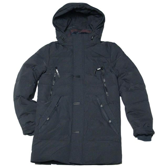 зимняя подростковая куртка пальто для мальчика черная ZPJV