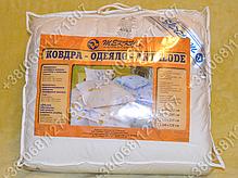 Одеяло 140х205 холлофайбер теплое Merkys белый поплин, фото 3