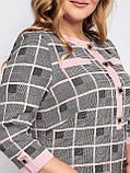 Женское платье Мирра клетка пудра, фото 4