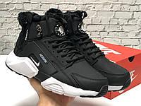 Зимние Мужские Кроссовки Nike Air Huarache X Acronym City Winter Black, найк аир хуарачи зима
