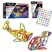 Магнитный конструктор для детей Животные с наклейками 88 деталей