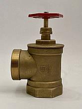 Кран пожарный угловой латунный ДУ-65