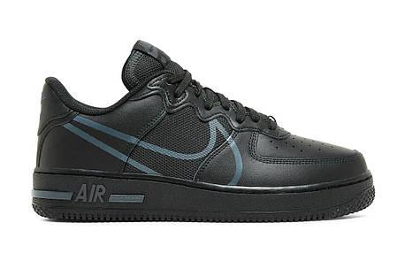 "Кроссовки Nike Air Force 1 React Black Anthracite ""Черные"", фото 2"