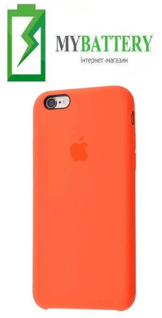 Чехол Silicone Case original (чехол-бампер) iPhone 6/ 6S оранжевый (13)