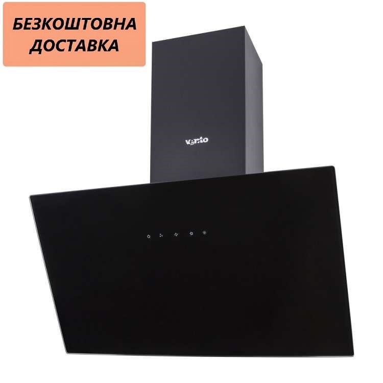 Кухонная вытяжка Ventolux MODENA 60 BK (700) TC Наклонная, Черная, Стекло