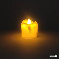 Свеча LED 5см d-4см мерцающее пламя (32927)