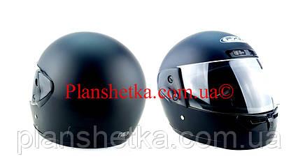 Шолом для мотоцикла Hel-Met 101 чорний мат, фото 2