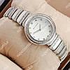 Стильные женские наручные часы Bvlgari slim crystal Silver/White 305