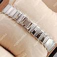Стильные женские наручные часы Bvlgari slim crystal Silver/White 305, фото 2