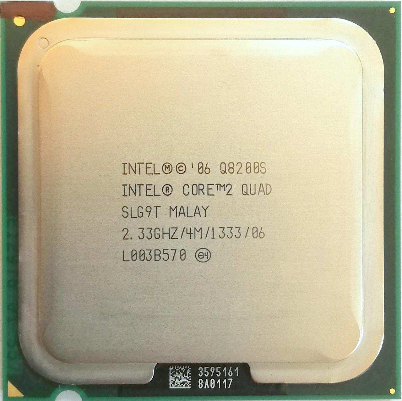Процессор Intel Core 2 Quad Q8200S R0 SLG9T 2.33GHz 4M Cache 1333 MHz FSB Socket 775 Б/У