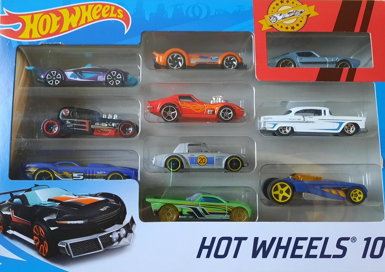 Машинки Хот Вилс 10 шт. подарочный набор в ассортименте Hot Wheels 10-Pack