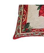 Новогодняя декоративная наволочка гобелен на молнии Прованс Рождество 45х45, фото 3