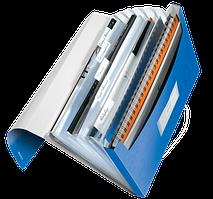 Папка пластиковая с 6-ю отделениями Leitz WOW на 200 листов голубая