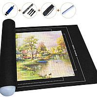 Килимок для складання пазлів текстильний фетровий Повний комплект