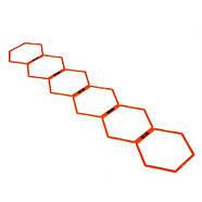 Кольца тренировочные шестиугольные Yakimasport Hexa-Hoops d-49 см (6 шт), фото 2