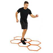 Кольца тренировочные шестиугольные Yakimasport Hexa-Hoops d-49 см (6 шт), фото 5