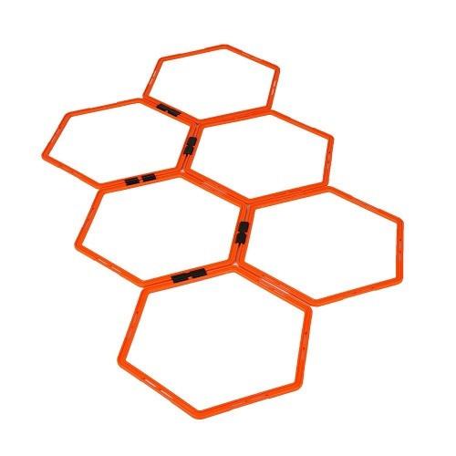 Кольца тренировочные шестиугольные Yakimasport Hexa-Hoops d-49 см (6 шт)