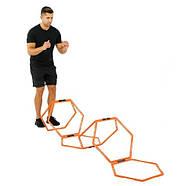 Кольца тренировочные шестиугольные Yakimasport Hexa-Hoops d-49 см (6 шт), фото 4