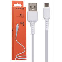 Кабель USB Micro Borofone BX16 белый, фото 1