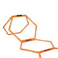 Кольца тренировочные шестиугольные Yakimasport Hexa-Hoops d-49 см (6 шт), фото 3