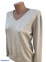 Кофта ажурная, Кофта демисезон, свитер лёгкий вязанный, вязанная легкая кофта XL/2XL