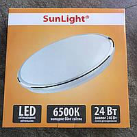 Потолочный светильник 24Вт 6500K в хроме круглый Sunlight