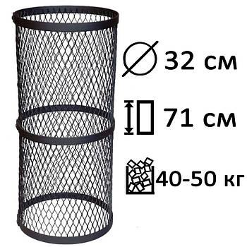 Сетка для камней (круглая), черная, большая PAL