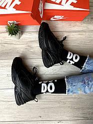 """Женские фирменные высокие носки Nike Sportswear """"JUST DO IT"""" (черно-белые) BA5751-010"""