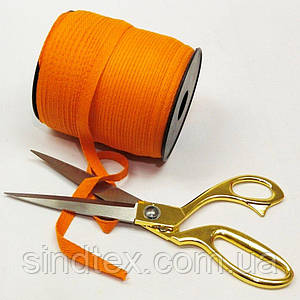 Оранжевая хб киперная лента 1 см на отрез кратно 1 м. (6-БК-707)