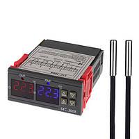 Терморегулятор термостат цифровой 2х канальный SENSOR STC-3008, для обогревателей, инкубаторов, аквариумов