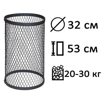Сетка для камней (круглая), черная, малая PAL