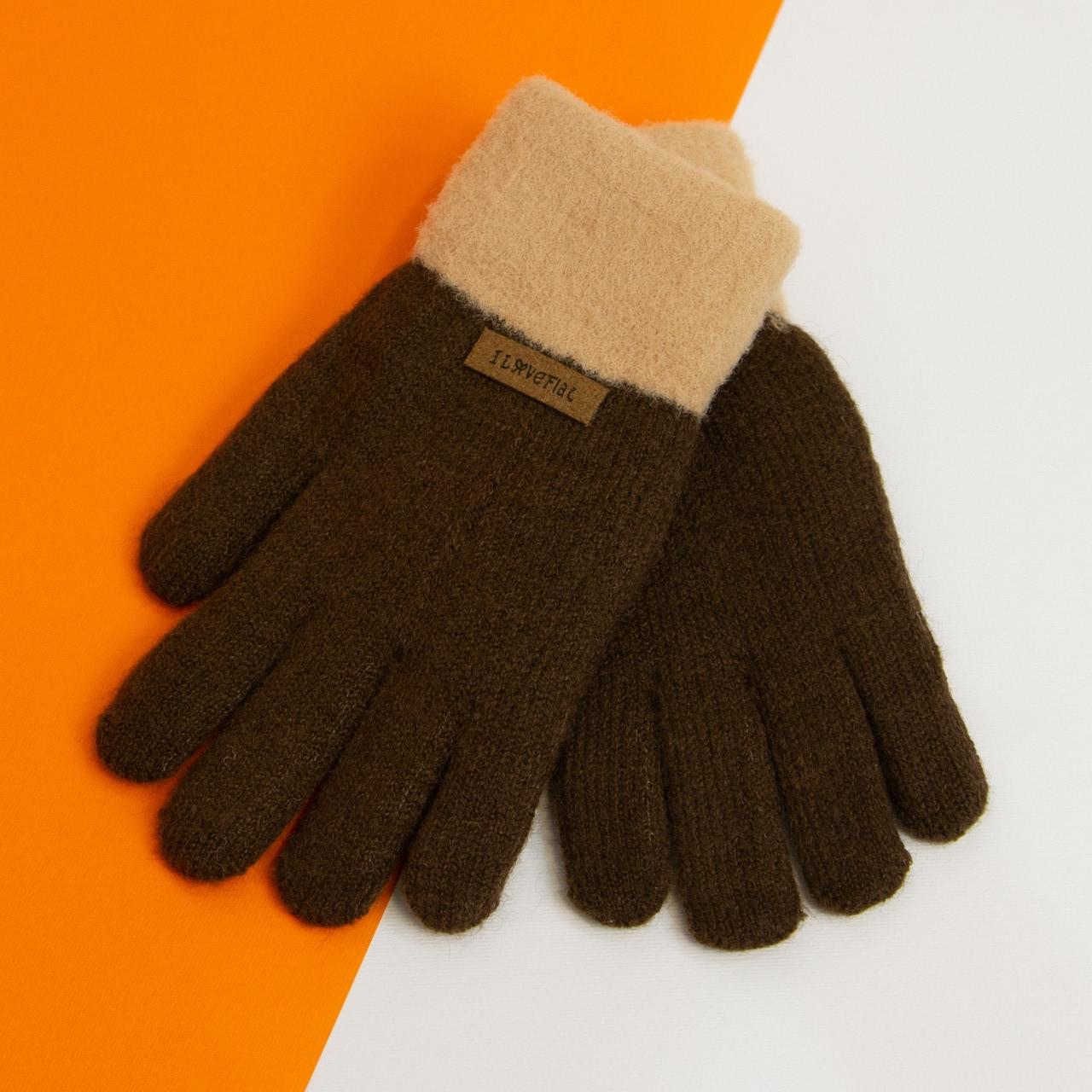 Зимние подростковые перчатки на 6 - 7 - 8 - 9 - 10 лет для девочек (арт. 20-7-94)