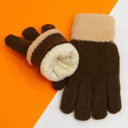 Зимние подростковые перчатки на 6 - 7 - 8 - 9 - 10 лет для девочек (арт. 20-7-94), фото 2