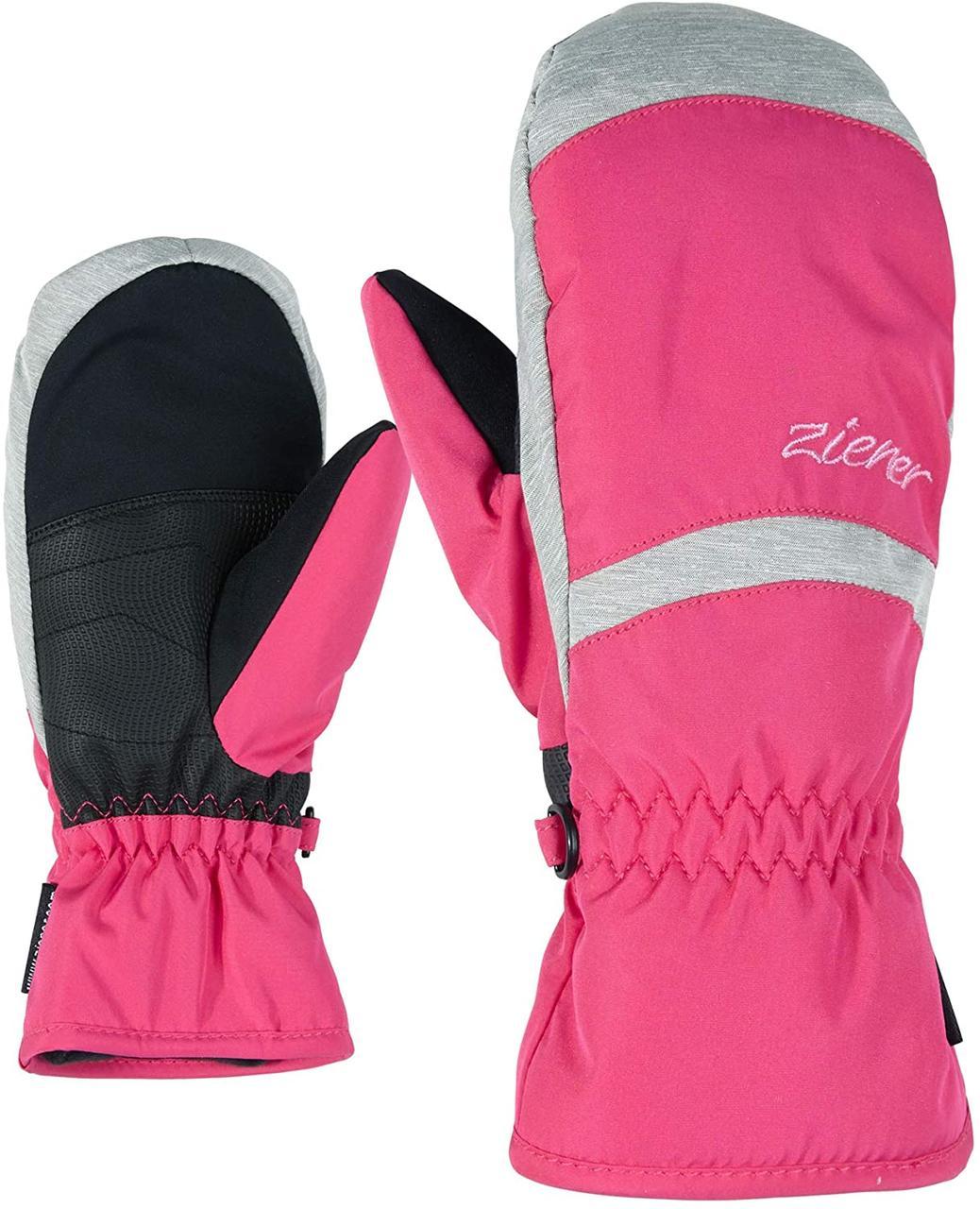 Гірськолижні рукавички Ziener LEJANOS AS | роз.-7.5, 6, 3.5 розові
