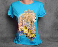 Футболка 'Лев', футболка с украинской тематикой, патриотическая футболка, женская футболка, фото 1
