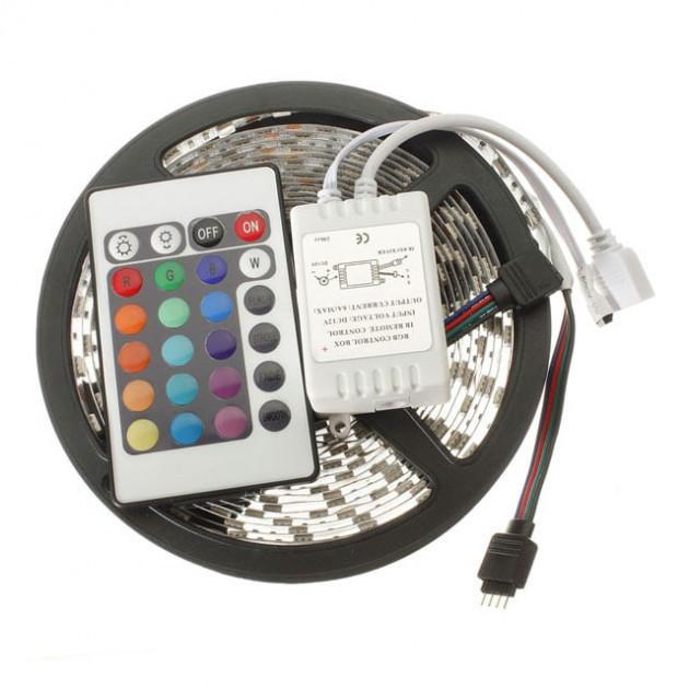 Светодиодная лента LED 5050 RGB 300 LED 5м с пультом и блоком питания