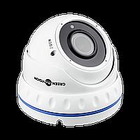 Гибридная антивандальная камера Green Vision GV-052-GHD-G-DOA20V-30 1080Р