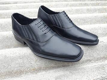 Туфли офицерские черные для охраны, НГУ, ЗСУ