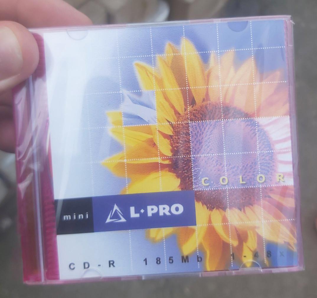 Диск CD-R mini L-Pro 185 Mb 48Х, упаковка из 5 дисков в коробках Slim Box