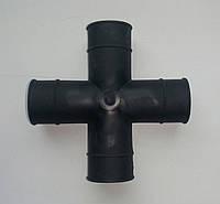 Соединитель для трубы пвх 22*22 мм. х-образный