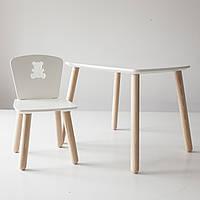 Комплект стол и стул детский 2-4 года, белый