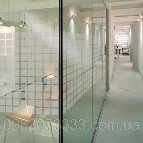 Декоративная тонировочная плёнка Квадраты Armolan на окна с рисунком самоклеющаяся ширина 0,92 м