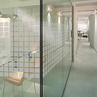 Декоративная тонировочная плёнка Квадраты Armolan на окна с рисунком самоклеющаяся ширина 0,92 м, фото 1