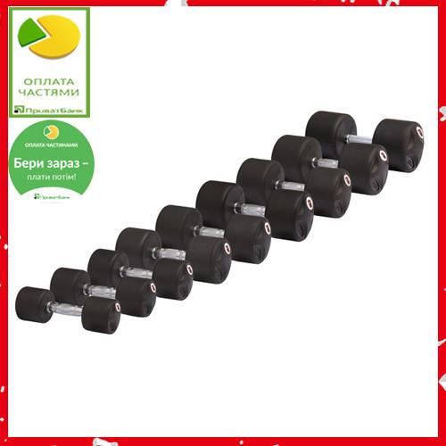 Гантель обрезиненная Stein 42 кг черный